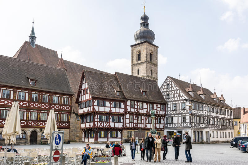 Historiska Forchheim royaltyfria foton