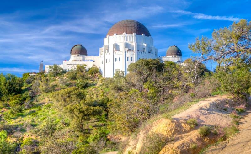 Historiska Griffith Observatory royaltyfri foto