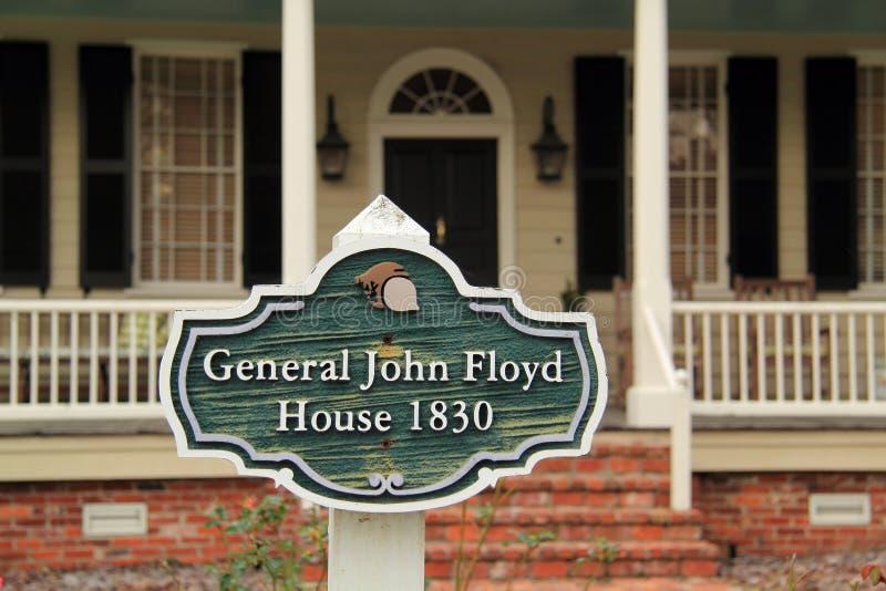 Historiska John Floyd Home royaltyfri bild
