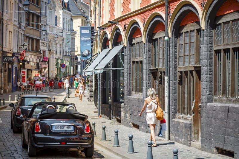 Historiska Lille Frankrike fotografering för bildbyråer