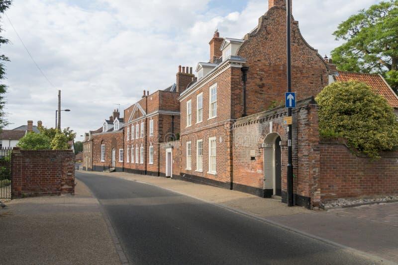 Historiska Northgate, Beccles, Suffolk arkivbilder