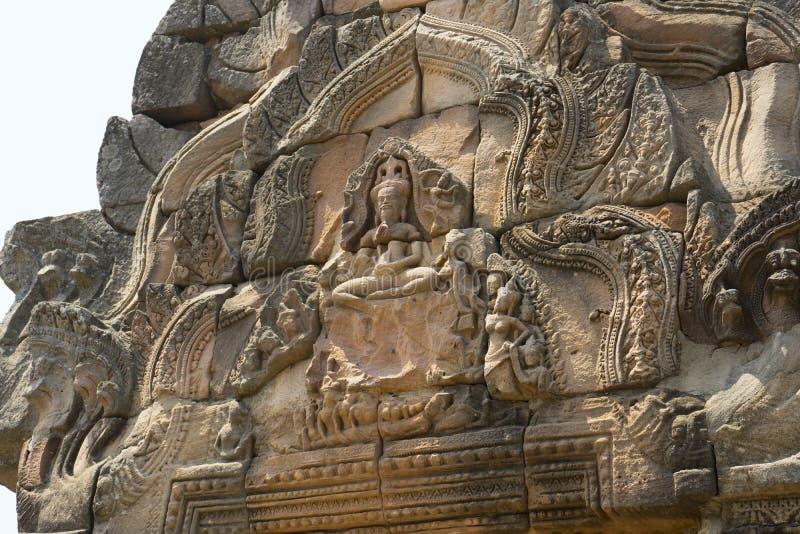 Historiska Phanomrung parkerar, Burirum, Thailand royaltyfri bild