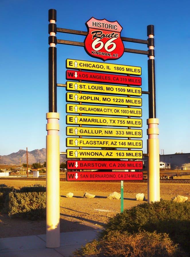 Historiska Route 66, USA fotografering för bildbyråer
