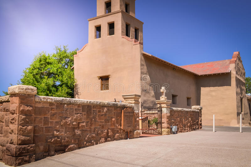 Historiska Santa Fe New Mexico arkivfoton