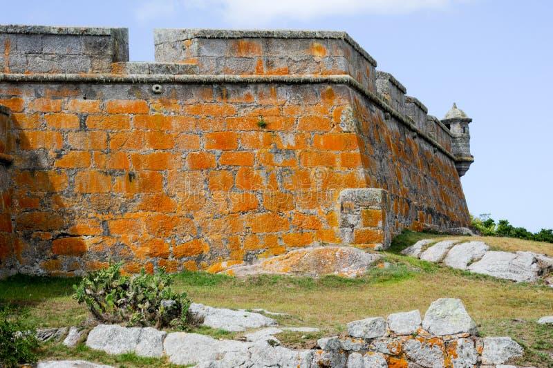 Historiska Santa Teresa Fort på Uruguay royaltyfria foton