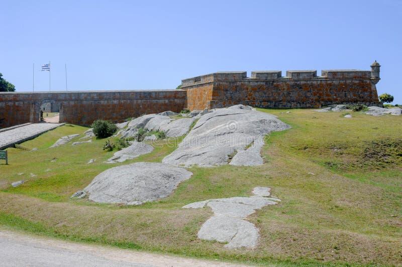 Historiska Santa Teresa Fort på Uruguay royaltyfri fotografi