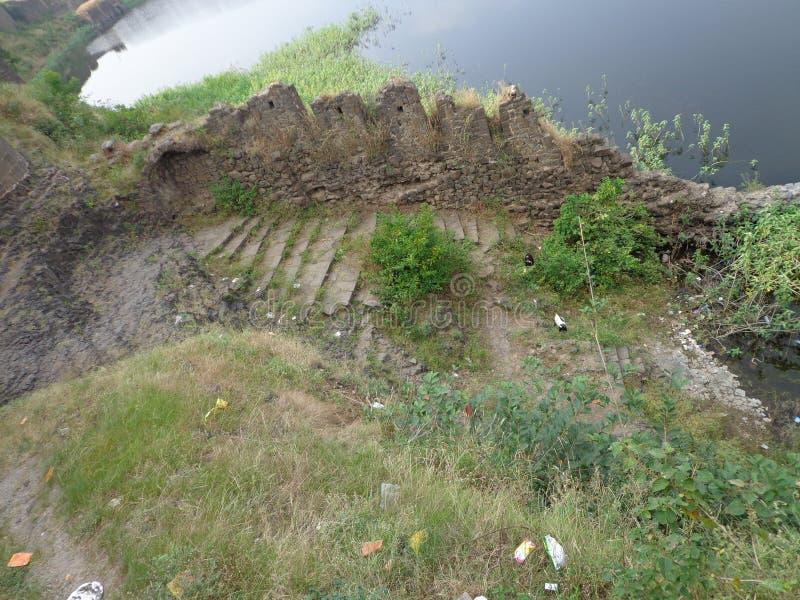 Historiska strukturer och konstruktioner som göras från stenar arkivbild