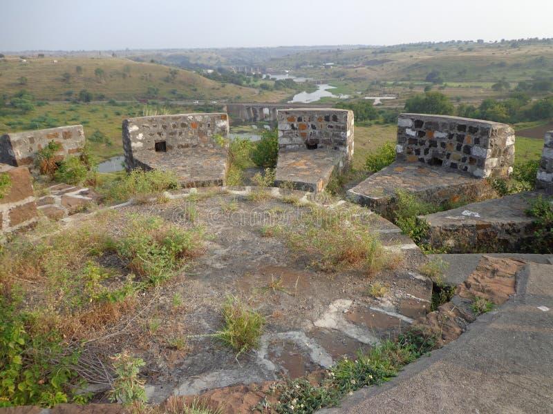 Historiska strukturer och konstruktioner som göras från stenar arkivbilder