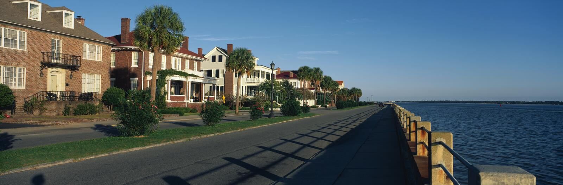 Historiska utgångspunkter i Charleston, SC royaltyfria bilder