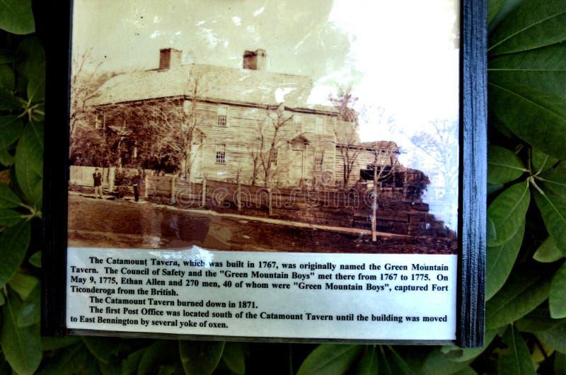Historiskt arv för Bennington vermont USA stad arkivfoton