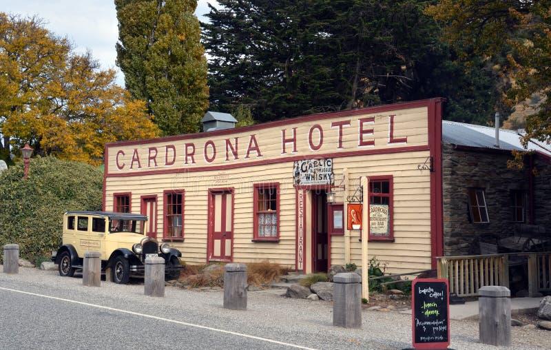 Historiskt Cardrona hotell i centrala Otago, Nya Zeeland arkivfoton