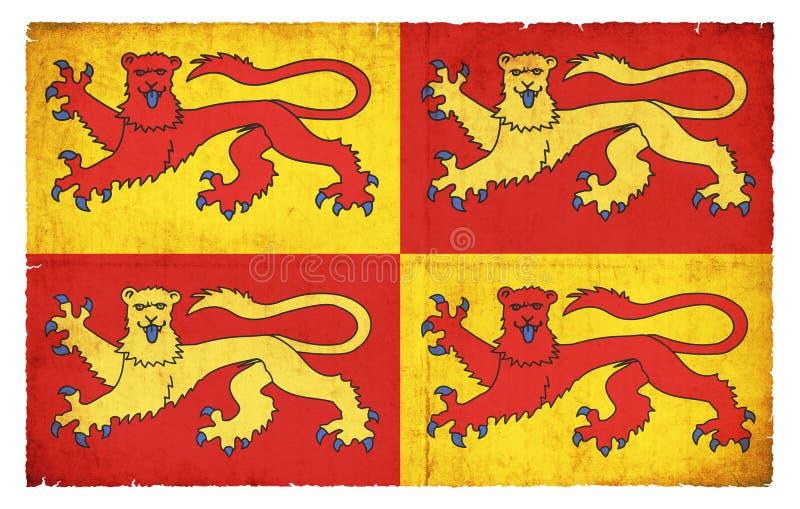 Historiskt Gwynedd baner Wales royaltyfri illustrationer
