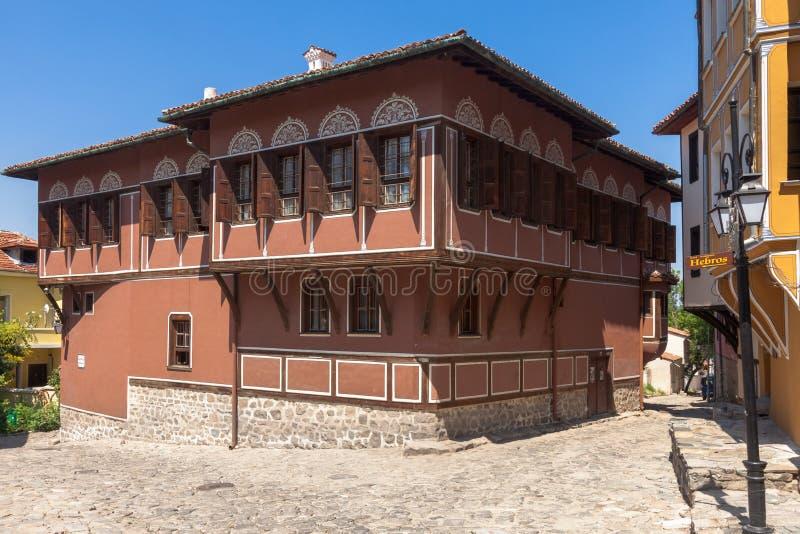 Historiskt hus i Plovdiv arkivfoto