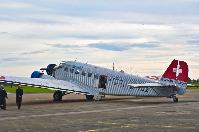 Historiskt Ju 52 flygplan, Tante Ju royaltyfria bilder