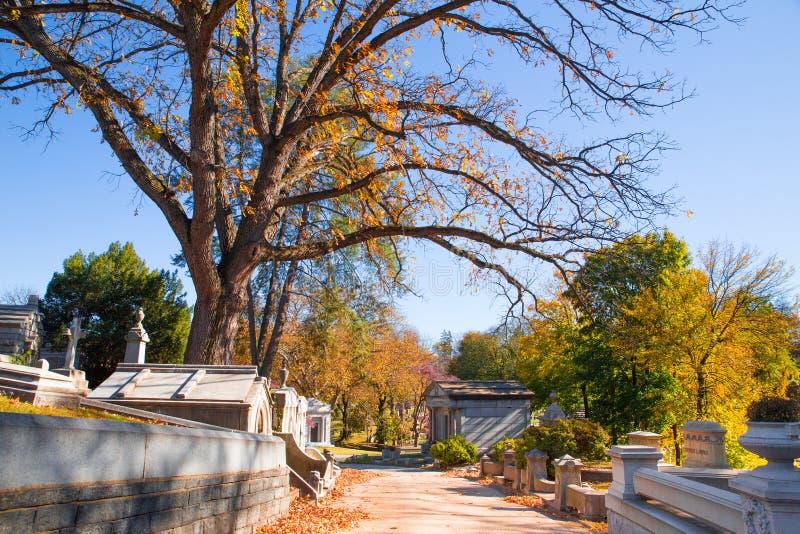 Historiskt Laurel Hill Cemetery Philadelphia PA arkivbilder