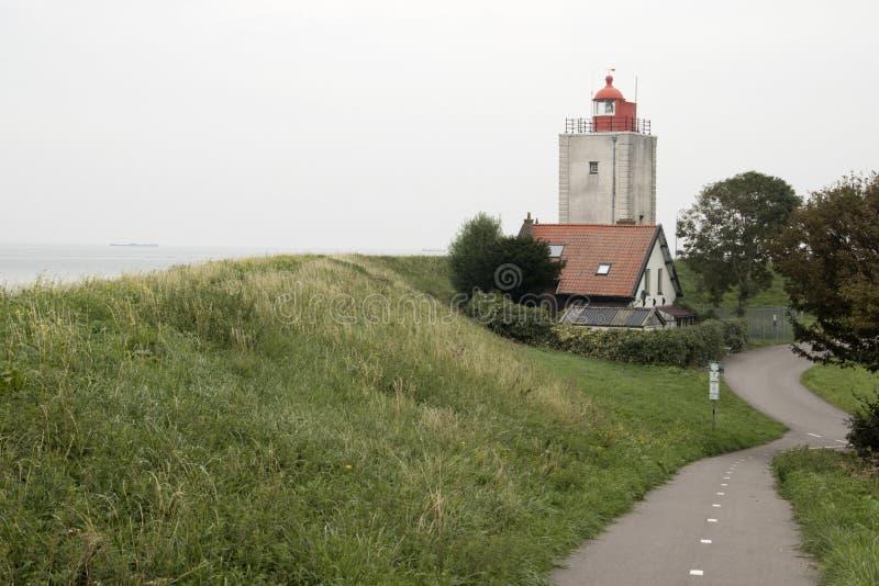 Historiskt ljust hus De Ven i Oosterdijk arkivfoto