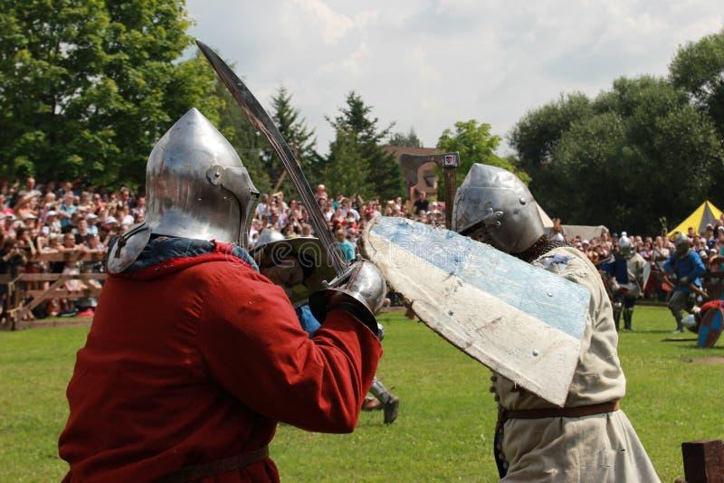 Historiskt medeltida, rekonstruktion arkivbild