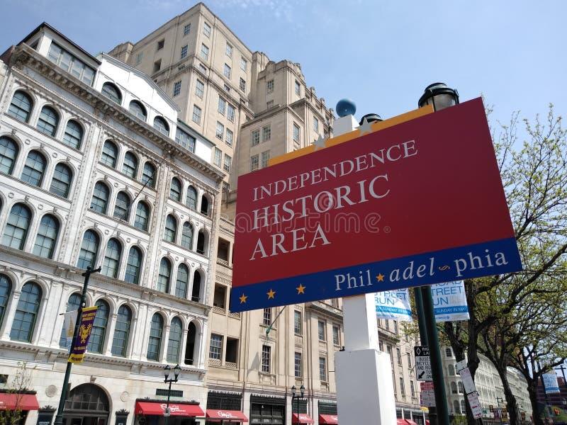 Historiskt område för Philadelphia självständighet, Pennsylvania, USA arkivbilder