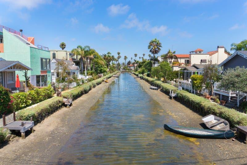 Historiskt område för Venedig kanal, Los Angeles fotografering för bildbyråer
