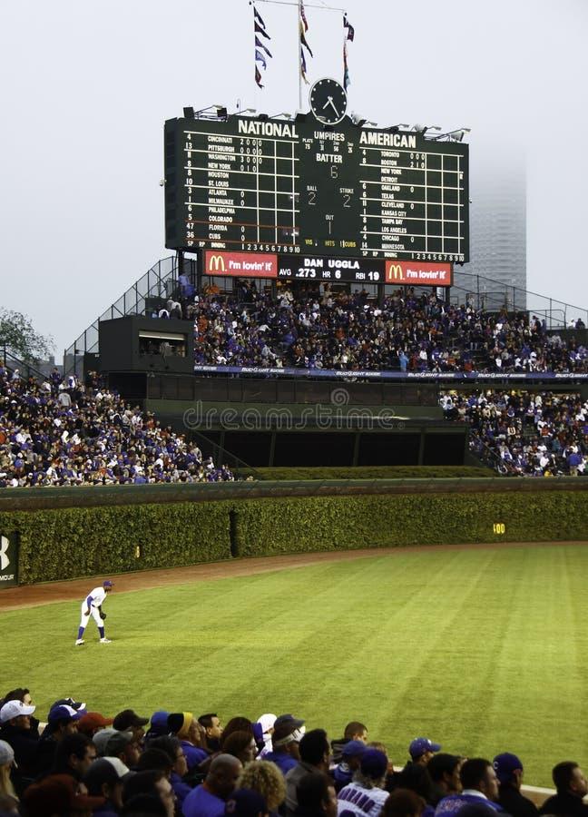 historiskt s funktionskort wrigley för baseballfält arkivfoton