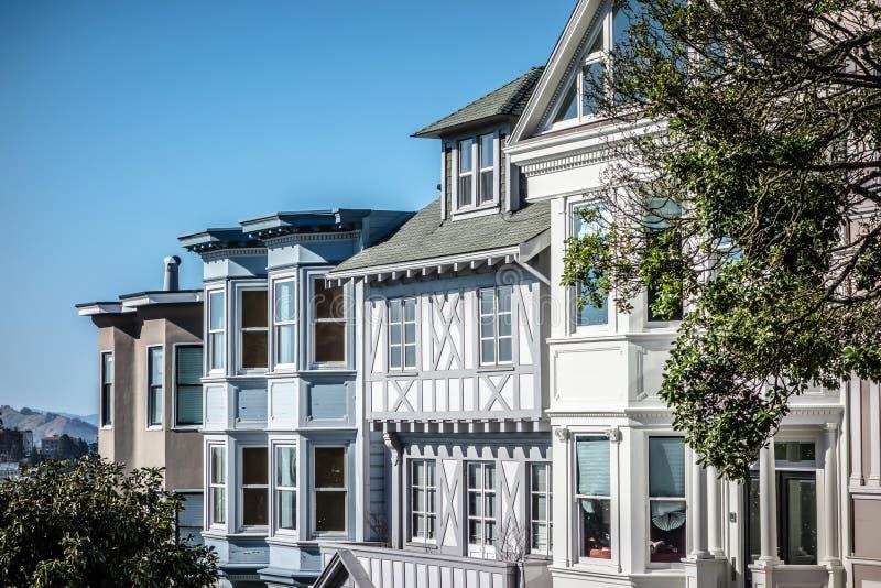Historiskt viktorianskt hem i San Francisco CaliforniaUSA royaltyfri fotografi