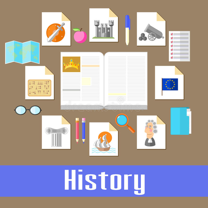 history ilustração stock