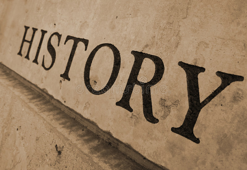 History carved in stone stock photos
