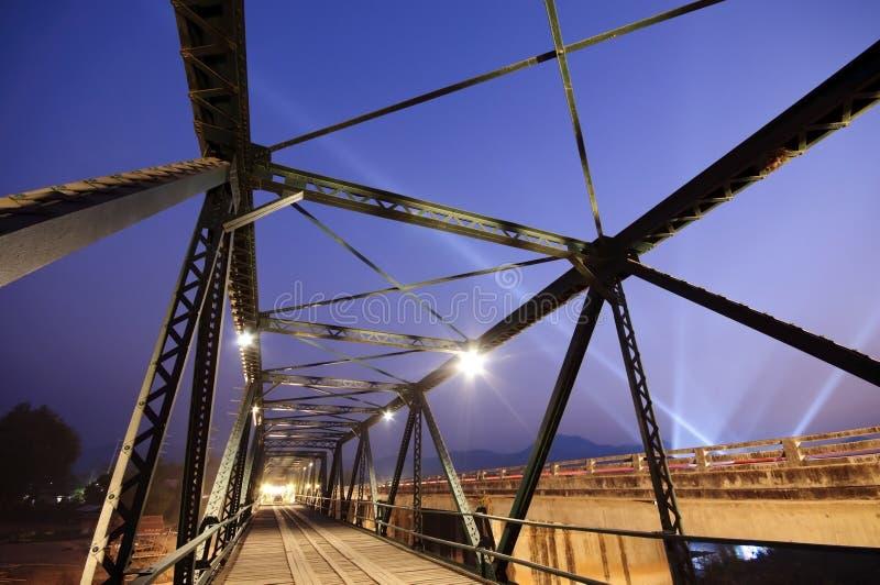History iron bridge Thailand stock photo