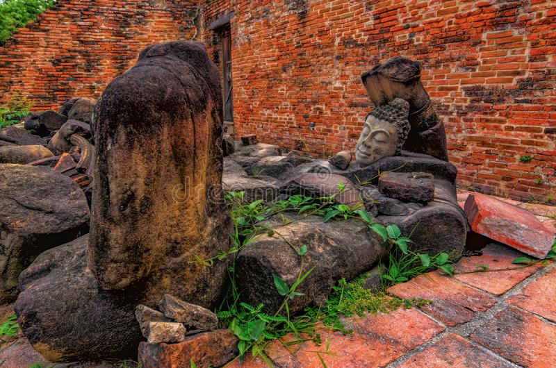 History of Legend. In Ayutthaya Province,Thailand royalty free stock images