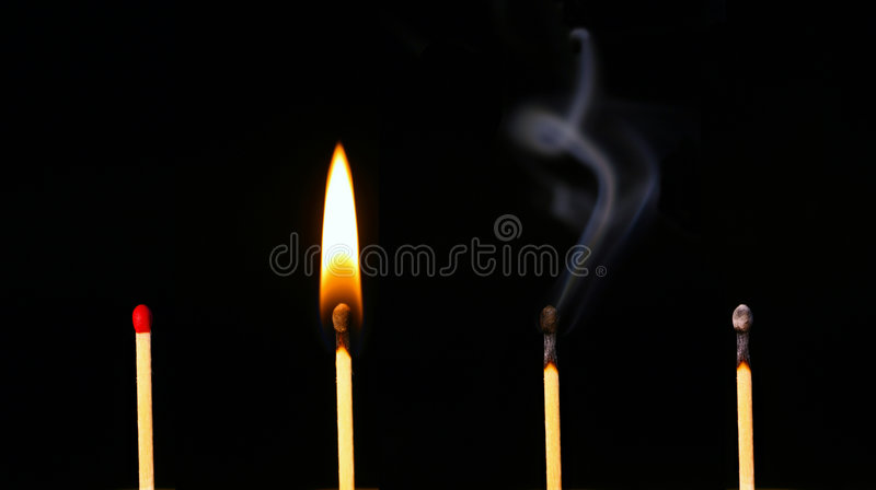 Download History of a Matchstick stock image. Image of burn, flame - 455091