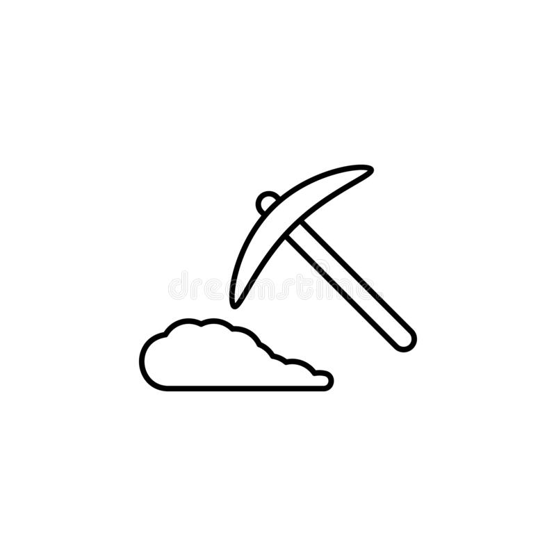 History, mining icon. Simple thin line, outline vector of History icons for UI and UX, website or mobile application. On white background royalty free illustration