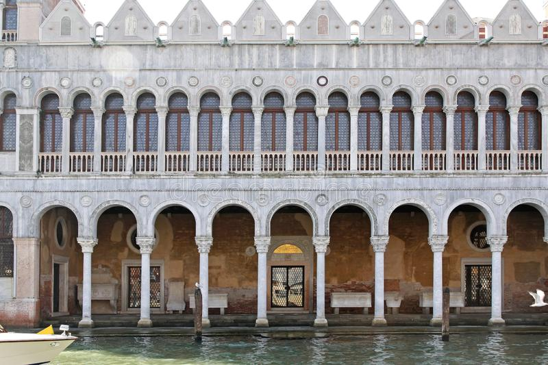 History Museum Venice. Natural History Museum at Grand Canal in Venice Italy royalty free stock images