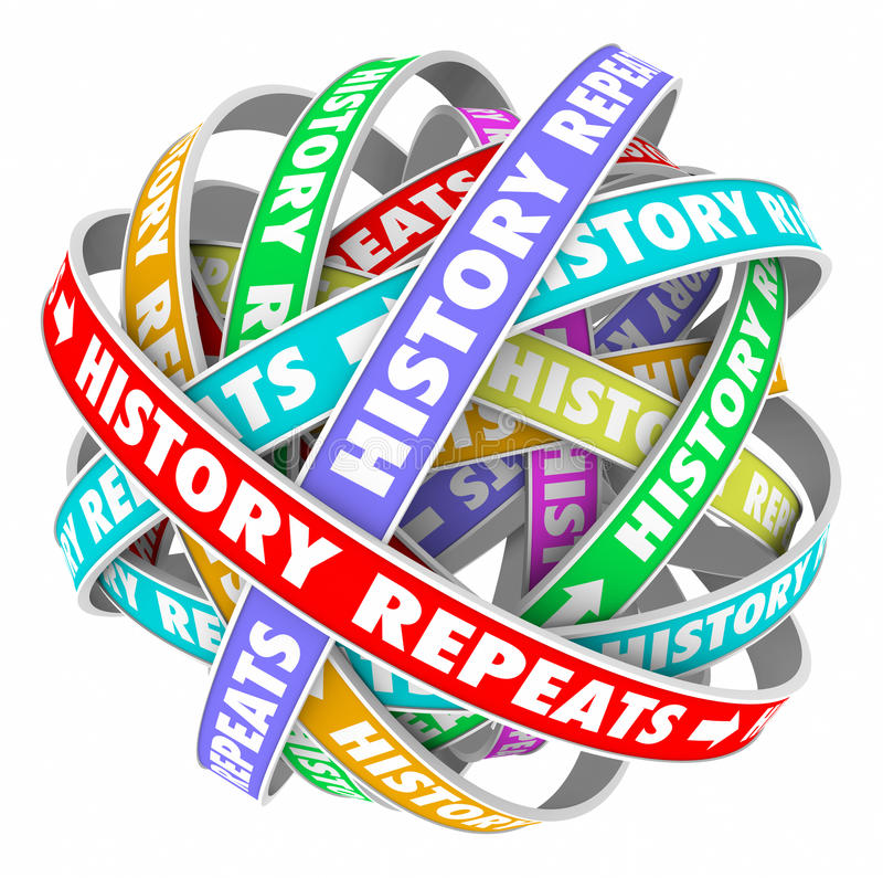 Free History Repeats Over Again Repetitive Words Cyclical Yesterday T Stock Photo - 44508470