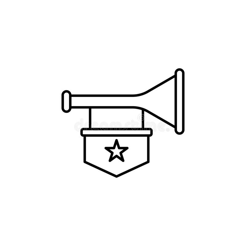 History, trumpet icon. Simple thin line, outline vector of History icons for UI and UX, website or mobile application stock illustration