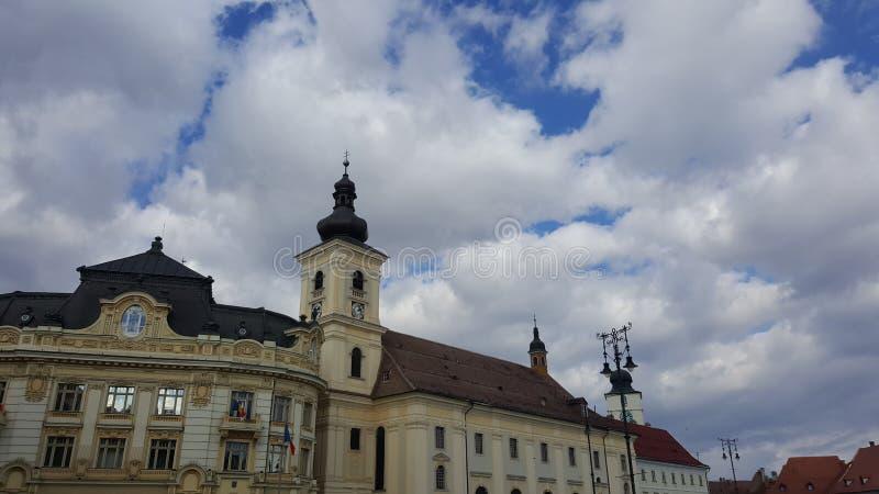 Historyczna architektura w Rumunia obraz royalty free
