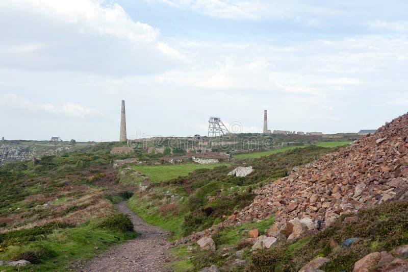 Historyczna Botallack Blaszana kopalnia w Anglia fotografia stock