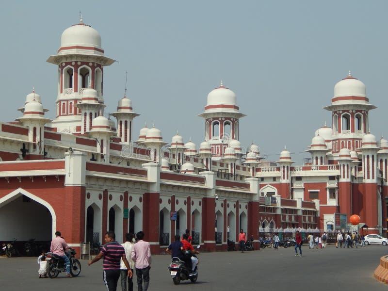 Historyczna Charbagh stacja kolejowa Lucknow fotografia stock