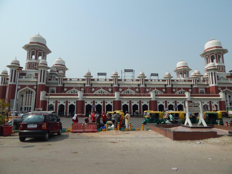 Historyczna Charbagh stacja kolejowa Lucknow zdjęcie stock