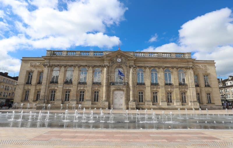 Historyczna fasada Beauvais urząd miasta Beauvais, Francja, Francja zdjęcia stock