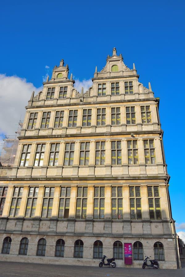 Historyczna fasada (stary urząd miasta) zdjęcie royalty free