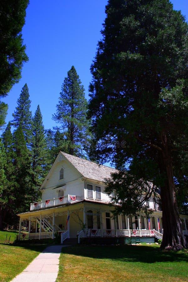 historyczna hotel parku narodowego wawona Yosemite zdjęcie royalty free
