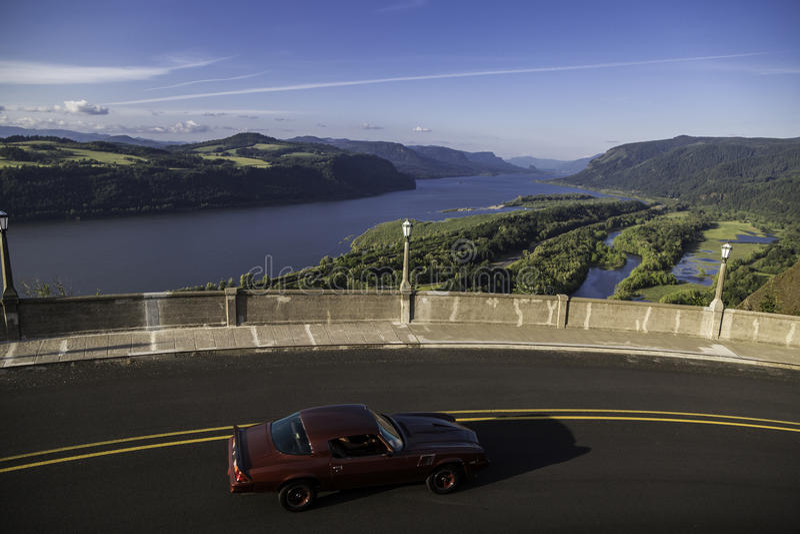 Historyczna Kolumbia Rzeczna autostrada, Oregon obraz royalty free