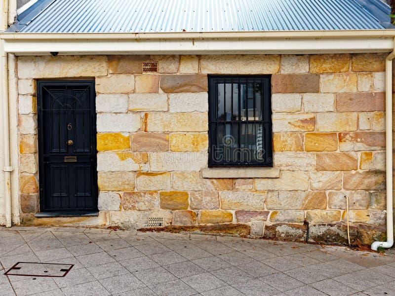 Historyczna Piaskowcowa chałupa, Sydney, Australia fotografia royalty free