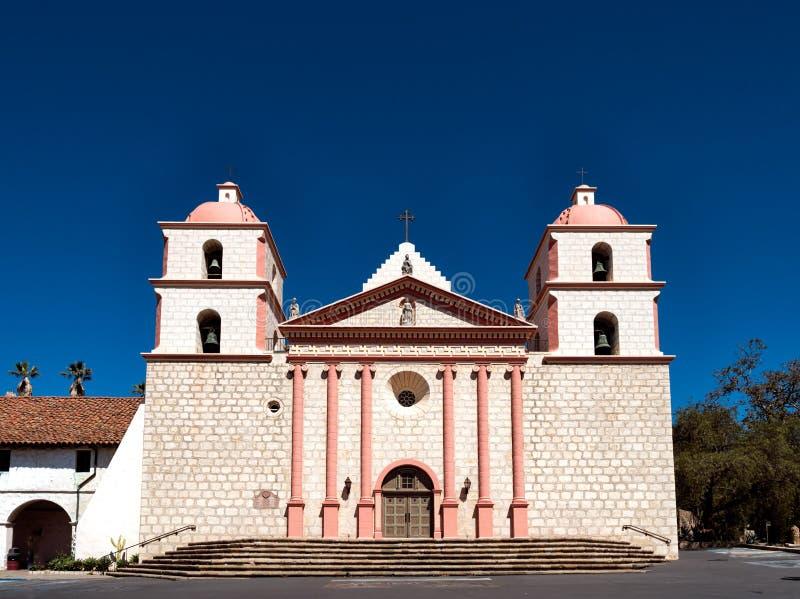 Historyczna Santa Barbara Hiszpańska misja w Kalifornia zdjęcia royalty free