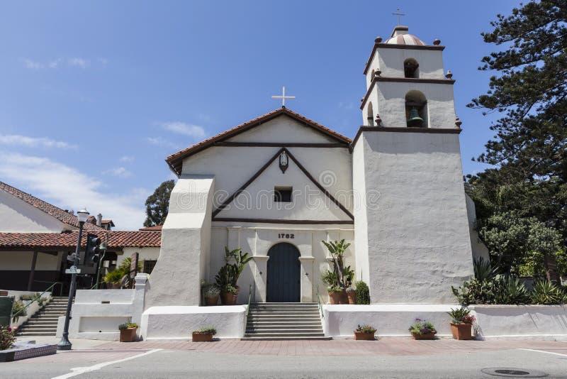 Historyczna Ventura misja w Południowym Kalifornia obrazy stock