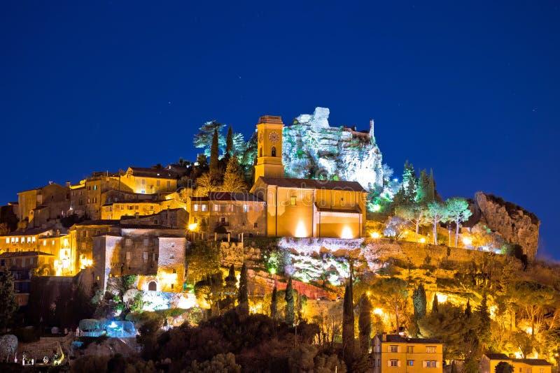 Historyczna wioska Eze na kamiennej falezie nad Cote d Azur zdjęcia stock