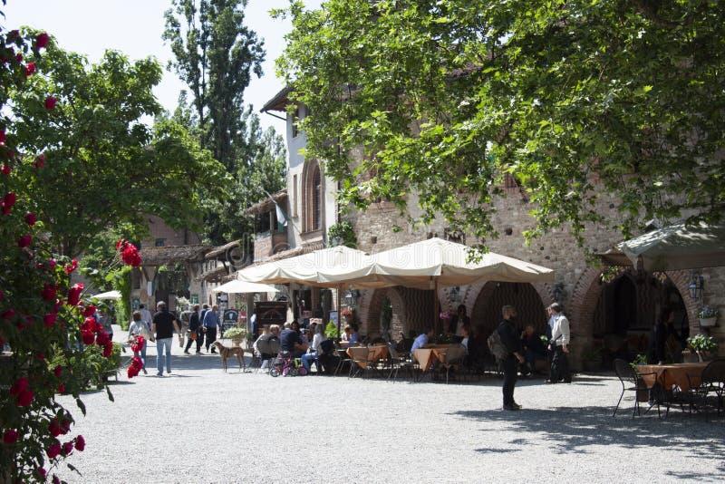 Historyczna wioska Grazzano Visconti Vigolzone Piacenza Włochy zdjęcia royalty free