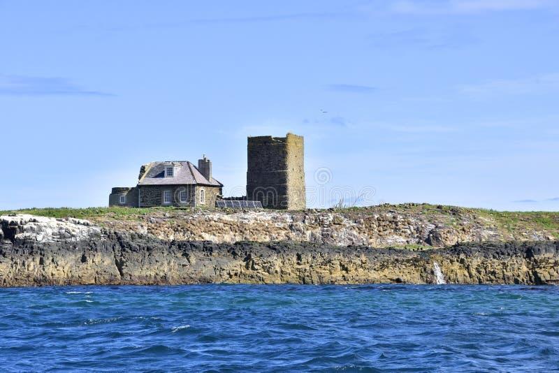 Historyczna wyspy chałupa Północno-wschodni Anglia obrazy royalty free