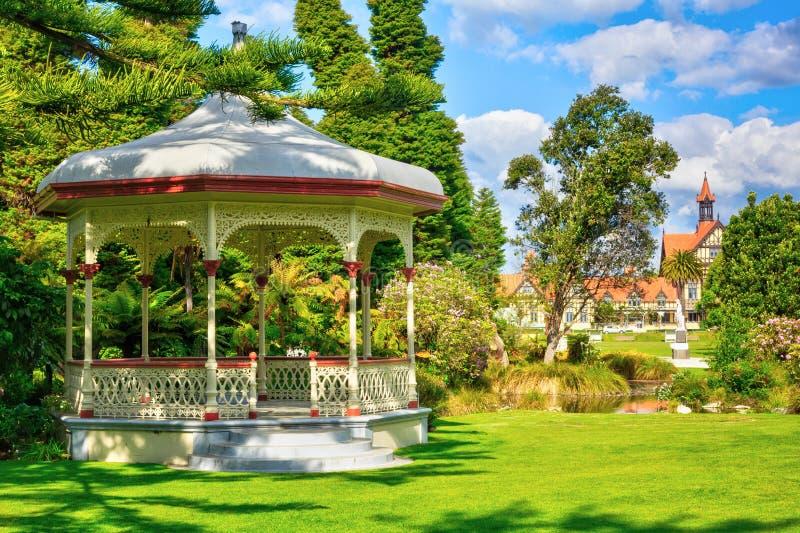 Historyczna zespół rotunda przed Rotorua muzeum, Nowa Zelandia obraz royalty free