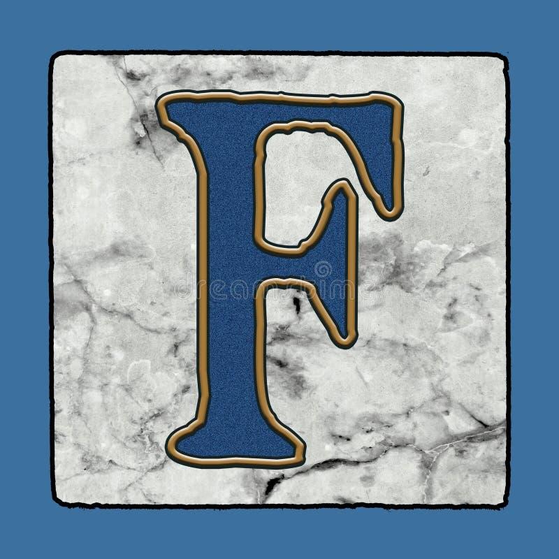 Historyczne Ikonowe Klasyczne Nowy Orlean płytek chodniczka listu abecadła Grunge Uliczne liczby & symbole royalty ilustracja